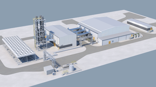 A rendering from the Solikamsk plant