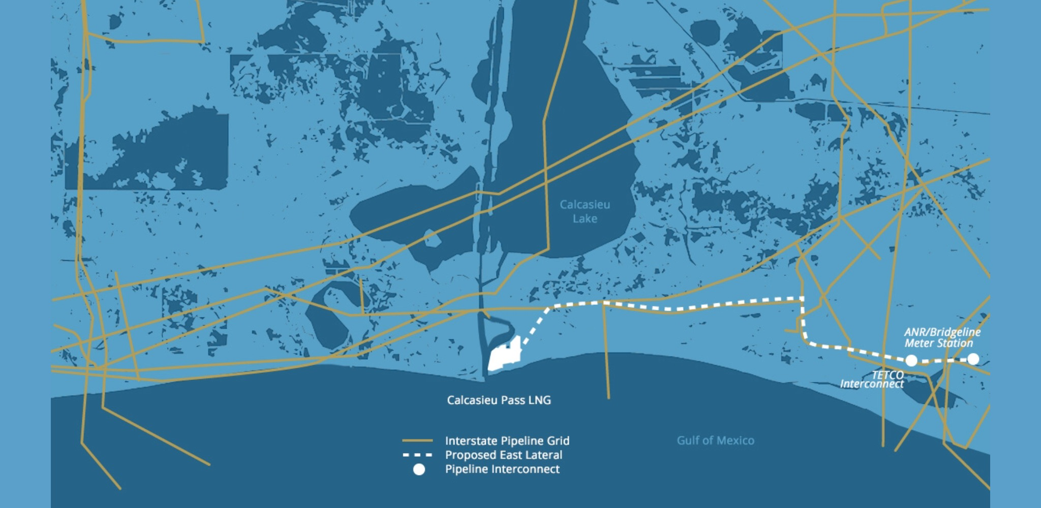 The Venture Global's LNG Calcasieu Pass project map, as reported on company's website