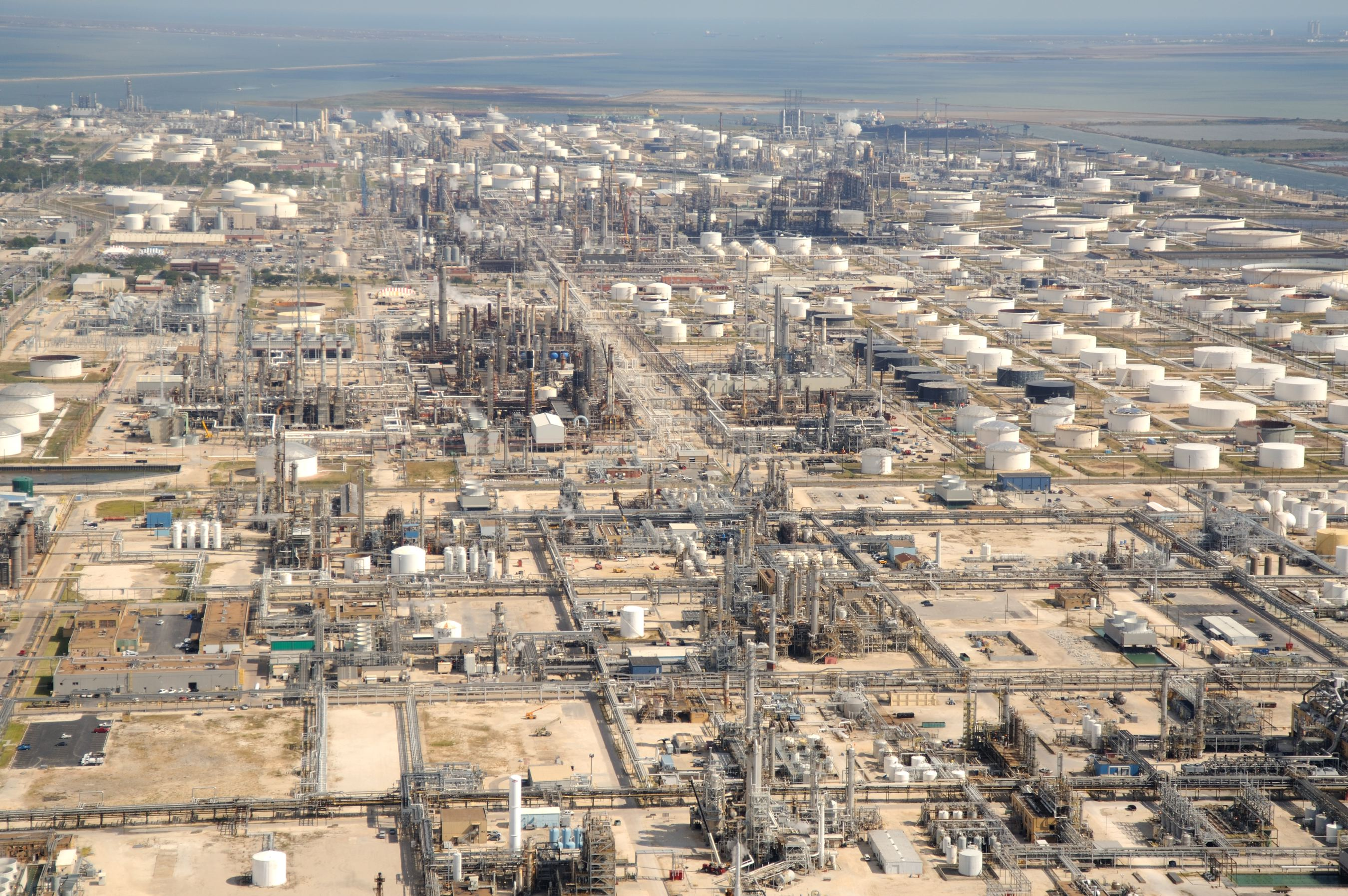 A view from Marathon's Galveston bay refinery (courtesy of The Center for Land Use Interpretation)
