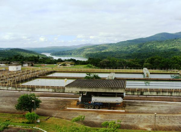 The Rio Manso WTP area (courtesy of Odebrecht)