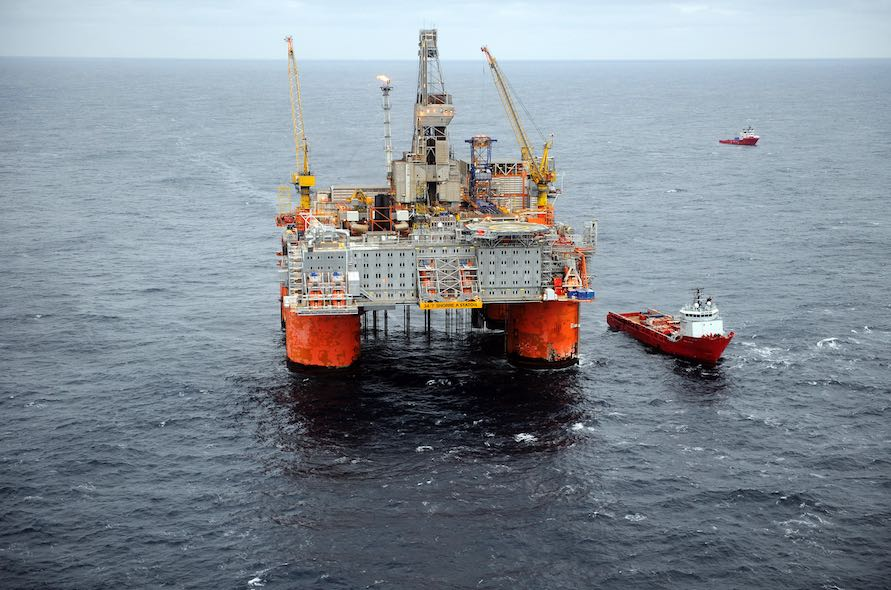 The Snorre-A platform (courtesy of Statoil)