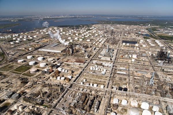 The Baytown refinery area (courtesy of the Center for Land Use Interpretation)