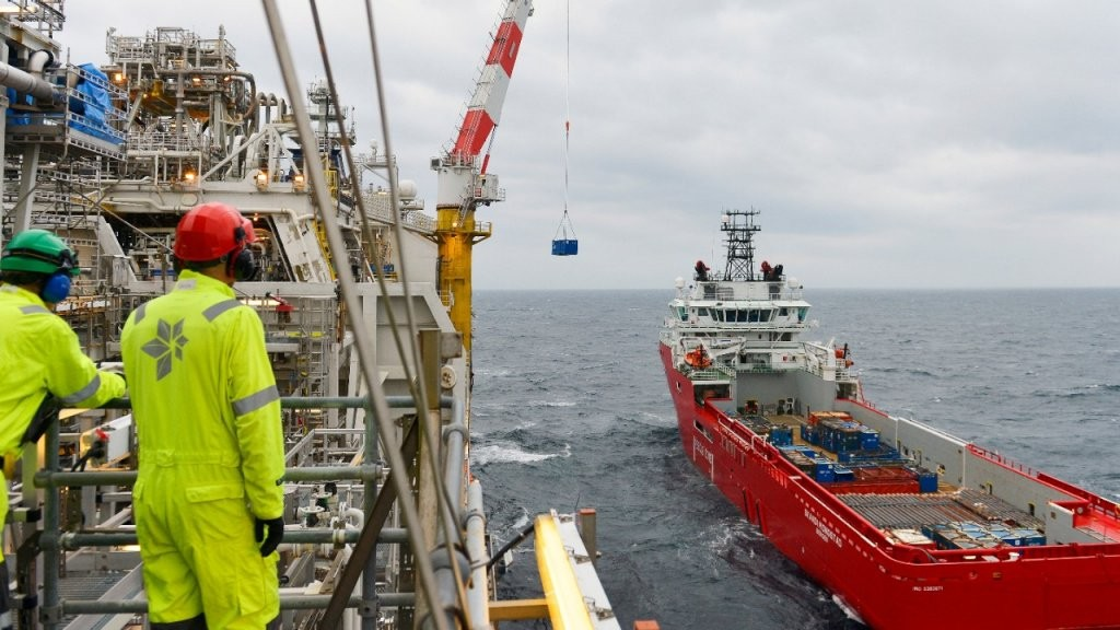 The Skandi Mongstad at the Norne field in October 2013  (image courtesy of Statoil)