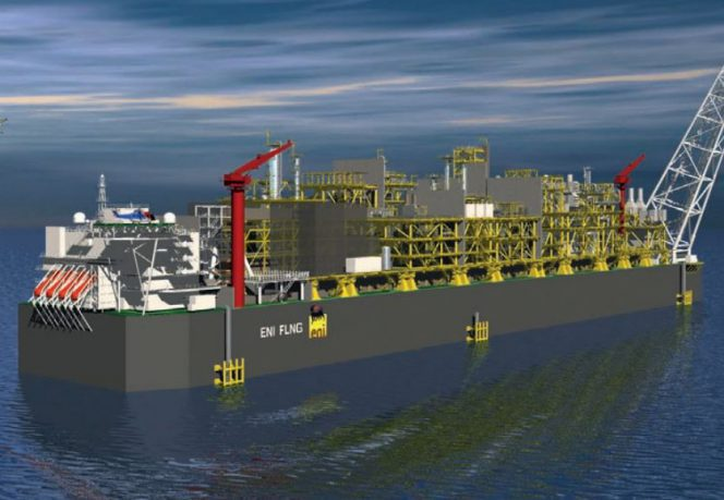 A visual render of Eni Coral South FLNG  (image courtesy of offshorenergytoday.com)