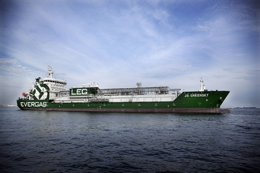 One of the Evergas-operated vessels (image courtesy of LNG World news)