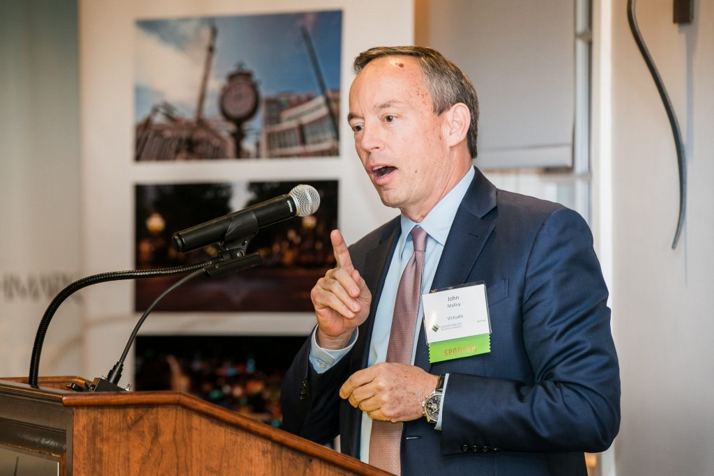 John Malloy, CEO of Victaulic, at the 2017 LVEDC Fall Signature Event (photo by Marco Calderon)