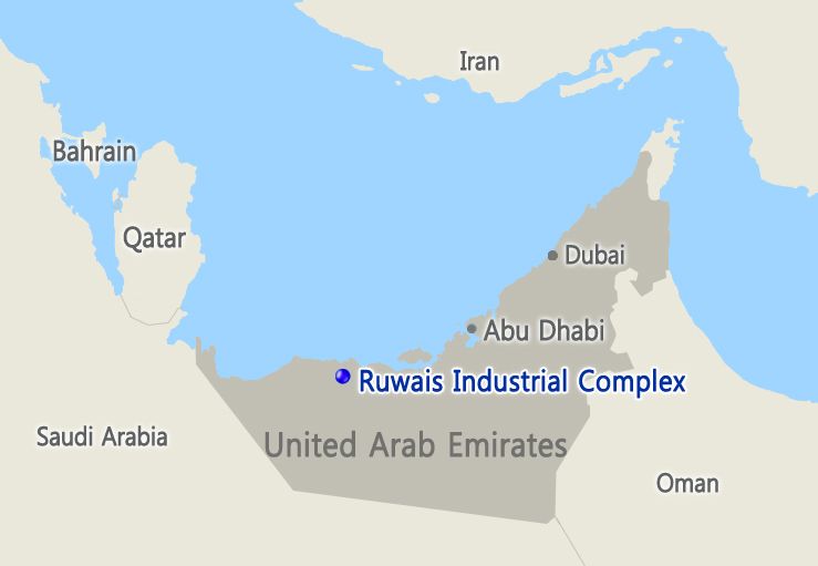 A map of the UAE ADNOC Crude Flexibility Project (image courtesy of Samsung Engineering)