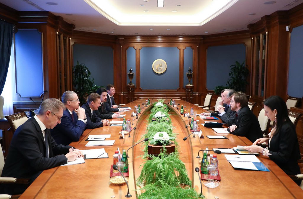 The meeting between Gazprom CEO and the Italian Ambassador (image courtesy of Gazprom)