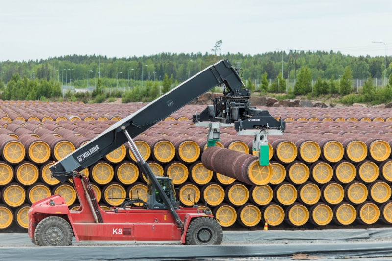 The pipes for the construction of Nord Stream 2 (image courtesy of Gazprom)
