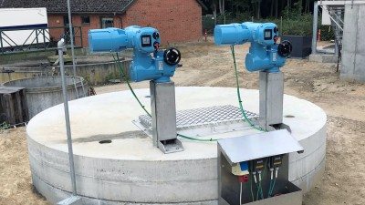Danish wastewater plant opts for actuator automation using Rotork CK Centronik modular actuators