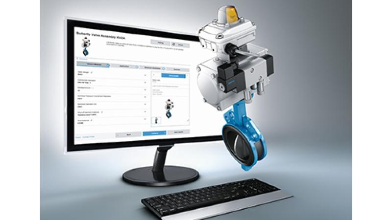 Festo launches the online KVZA Butterfly-Valve Configurator