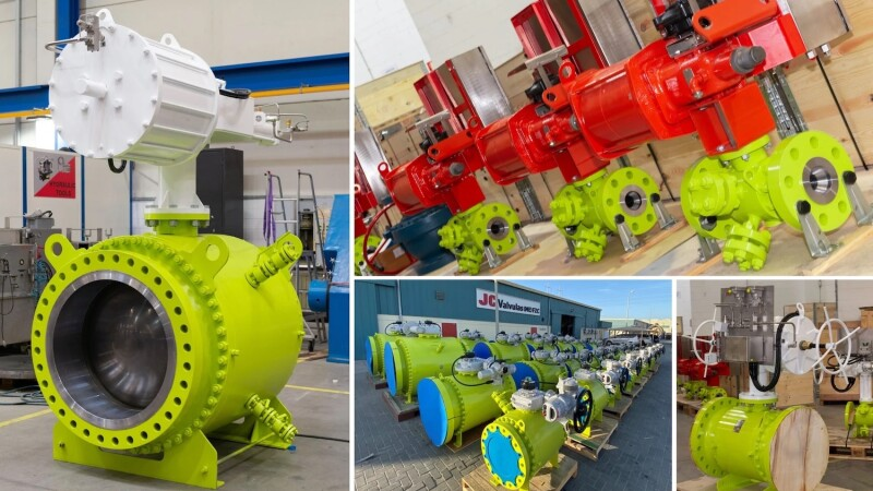 JC Valves supplies ball valves for hydrocarbon gas service in Middle East